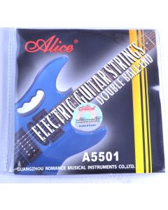 Alice double ball end electric guitar strings. Stainless steel, nickel alloy wound, 10-46 gauge