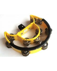 Drum Kit Tambourine (Double Half Moon, Mountable, Yellow)