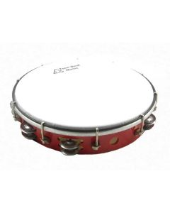 "Professional Tambourine (Tunable, Headed 12"". Red Finish)"