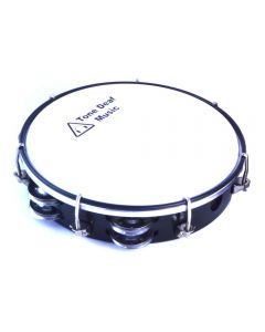 "Professional Tambourine (Tunable, Headed 12"". Black Finish)"